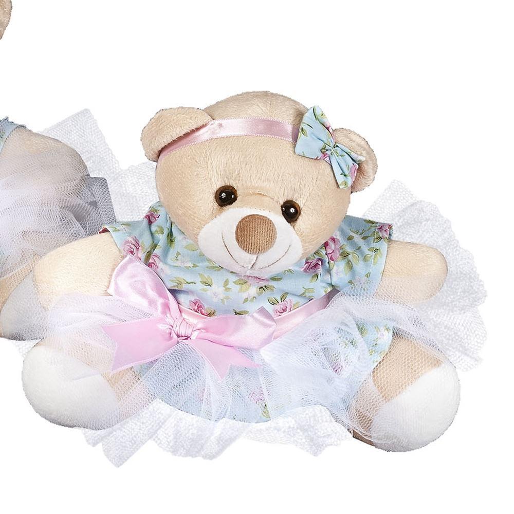 Enfeite P Ursa Bailarina Floral
