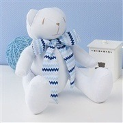 Ursos Gravata Chevron Azul Sianinha