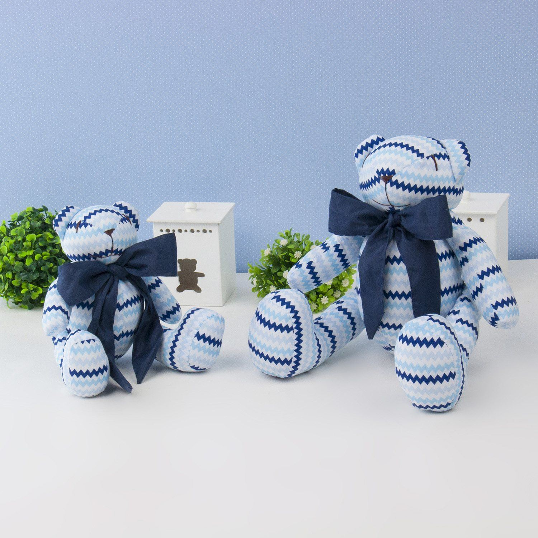 Ursos Azul Sianinha Chevron com Gravata Marinho