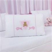 Kit Cama Babá Urso Escudo Rosa