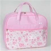 Conjunto de Bolsas Trissê Rosa Floral