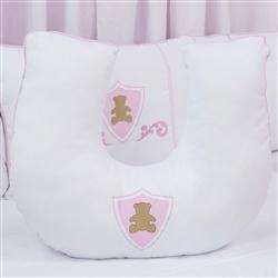 Almofada para Amamentação Urso Escudo Rosa
