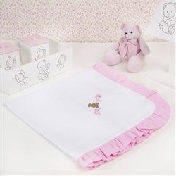 Manta Urso Escudo Rosa
