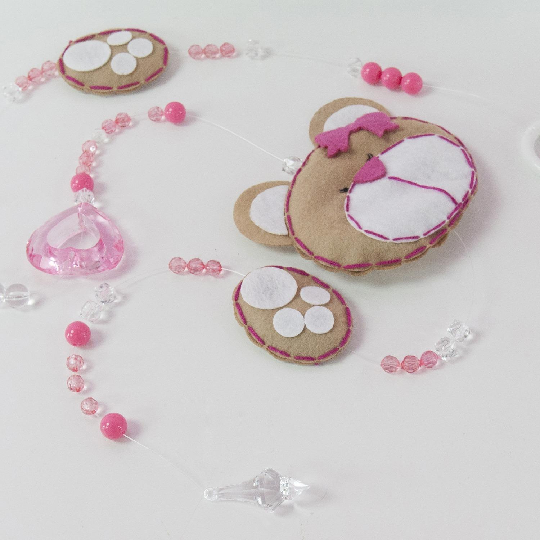 Pêndulos Cortina Mimos Rosa