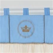 Cortina Coroa Brasão Azul
