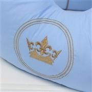 Almofada para Amamentação Coroa Brasão Azul