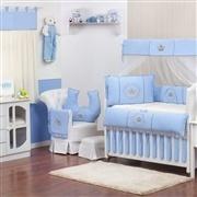 Quarto para Bebê sem Cama Babá Coroa Brasão Azul