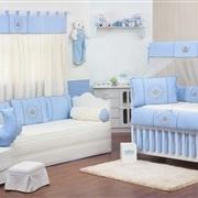 Quarto para Bebê Coroa Brasão Azul