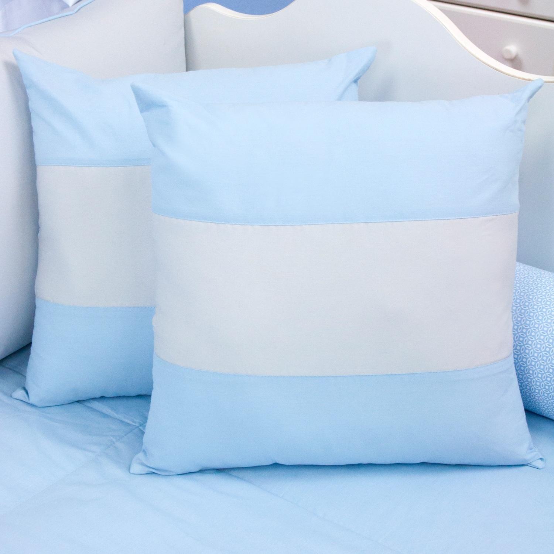 Almofadas Decorativas Faixa Ursinho Travesso Azul