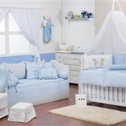 Quarto para Bebê Ursinho Travesso Azul