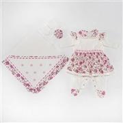 Saída Maternidade Vestido Dondoquinha Pink RN
