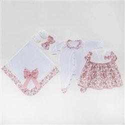 Saída Maternidade Vestido Pituquinha Rosa P
