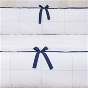 Kit Berço Clean Marinho e Branco
