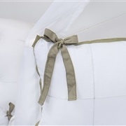 Kit Berço Clean Verde e Branco