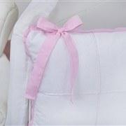 Kit Berço Clean Rosa e Branco
