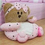 Colchonete de Pelúcia Ursa Baby Rosa