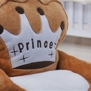 Mini Poltrona de Pelúcia Prince Marrom