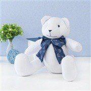 Urso M Branco com Gravata Realeza Marinho