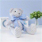 Urso M Chevron Gravata Azul