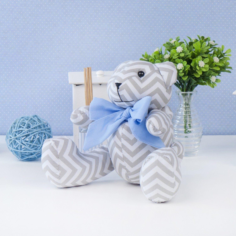 Urso P Chevron Gravata Azul