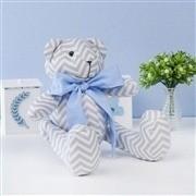 Ursos Chevron Gravata Azul