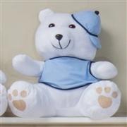 Urso Requinte M com Boné Amigos Baby