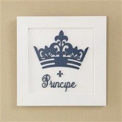Quadro Decorativo Príncipe Marinho Premium Branco