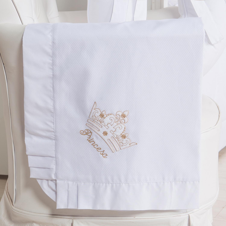 Manta Piquet Princesinha Dourada Premium