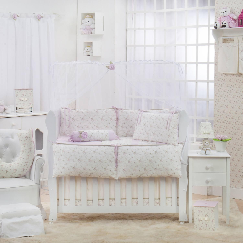 Quarto para Bebê sem Cama Babá Flor do Campo
