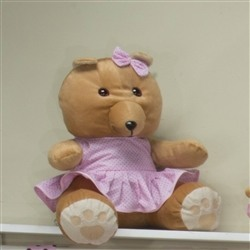 Ursa Requinte M Vestidinho Rosa Poá
