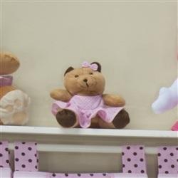 Ursa Requinte P Vestidinho Rosa Poá