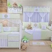 Quarto para Bebê sem Cama Babá Baby Verde