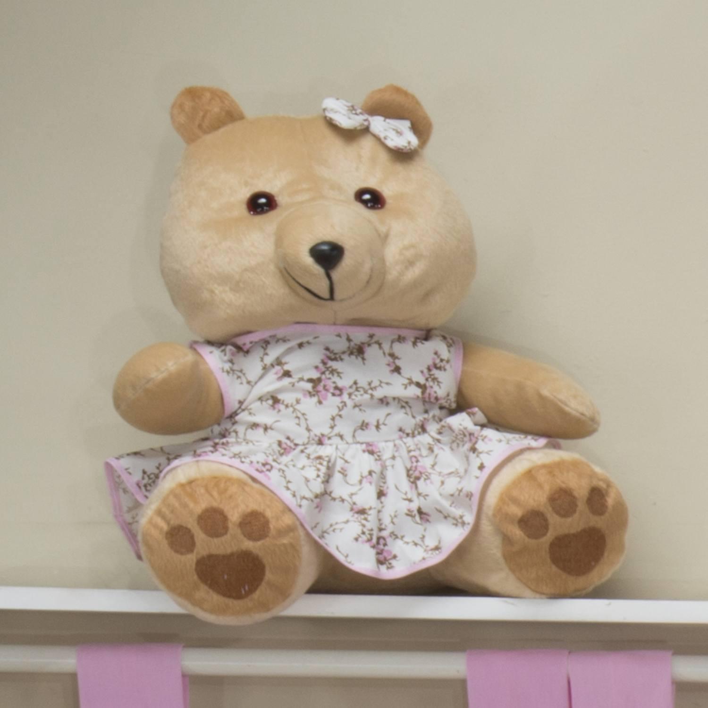 Ursa Requinte M Bege com Vestidinho Floral