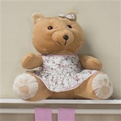 Ursa Requinte M Marrom com Vestidinho Floral