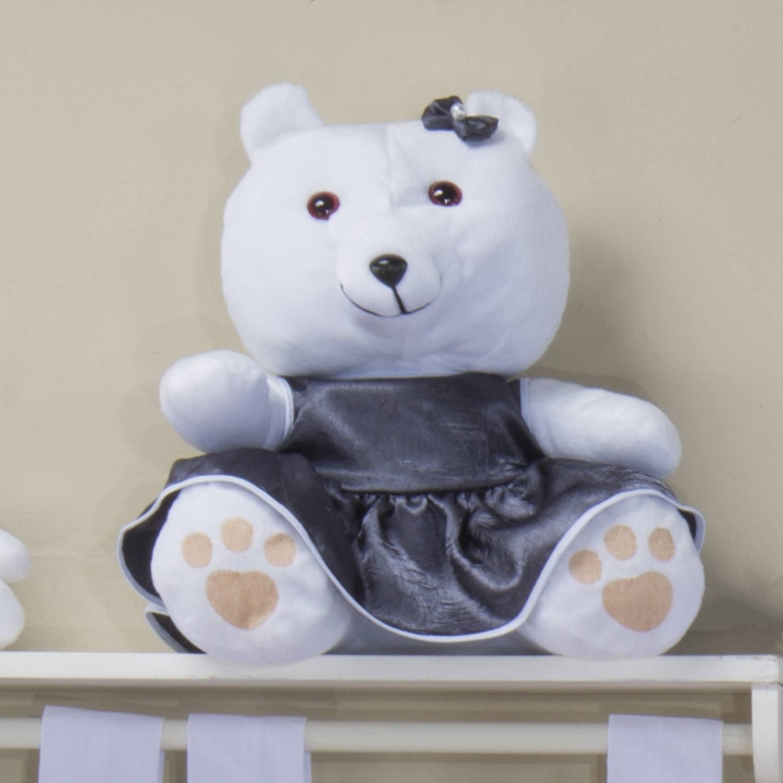 Ursa Requinte M Branca com Vestidinho de Cetim