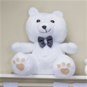 Urso Requinte M Branco com Gravatinha de Cetim