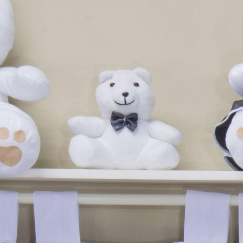 Urso Requinte P Branco com Gravatinha de Cetim