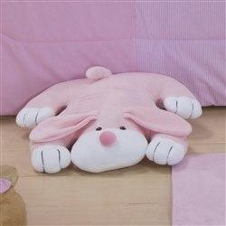 Enfeite Cachorro Deitado Rosa Claro