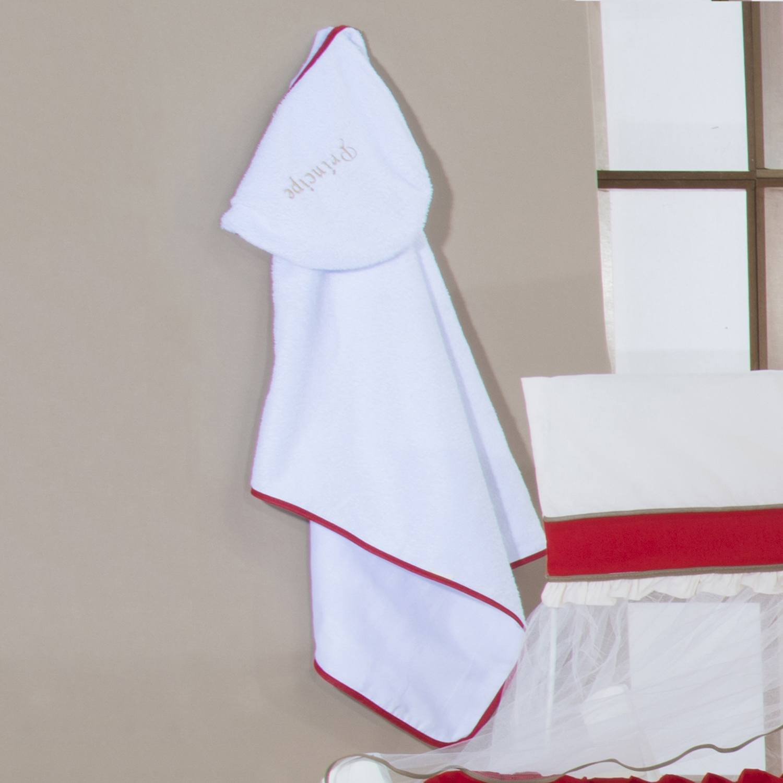 Toalha de Banho com Capuz Príncipe Vermelho
