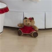Ursa Requinte P Marrom com Vestidinho Vermelho