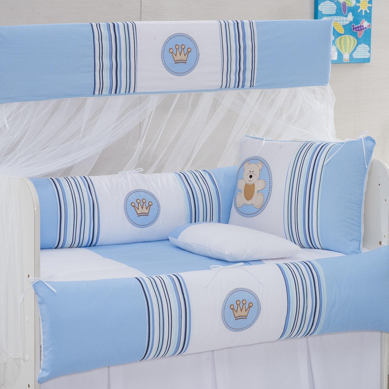 Kit Berço Coroa Baby Azul
