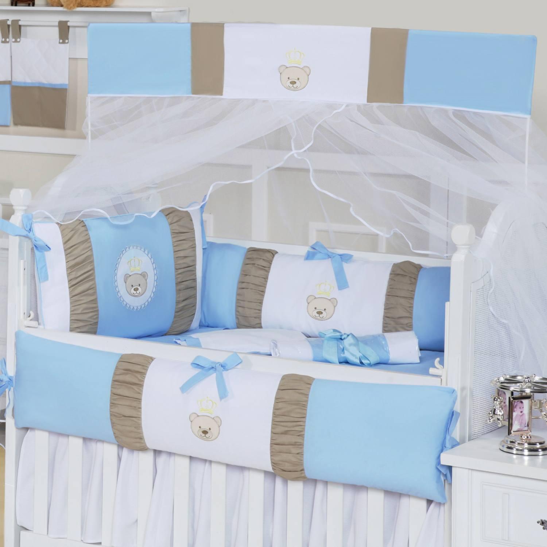 Kit Berço Mimo Baby Azul