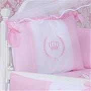 Kit Berço Coroa Real Rosa