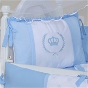 Kit Berço Coroa Real Azul