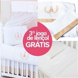 Kit Berço Realeza + Jogo de Lençol