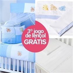 Kit Berço Baby Zoo + Jogo de Lençol