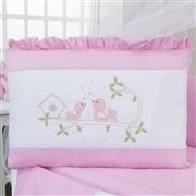 Kit Berço Canto dos Pássaros Rosa