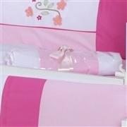 Quarto para Bebê sem Cama Babá Corujita Rosa