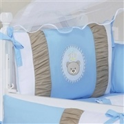 Quarto para Bebê sem Cama Babá Mimo Baby Azul