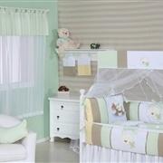 Quarto para Bebê sem Cama Babá Brinquedos Verde